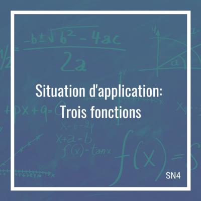 Situation d'application: Trois fonctions