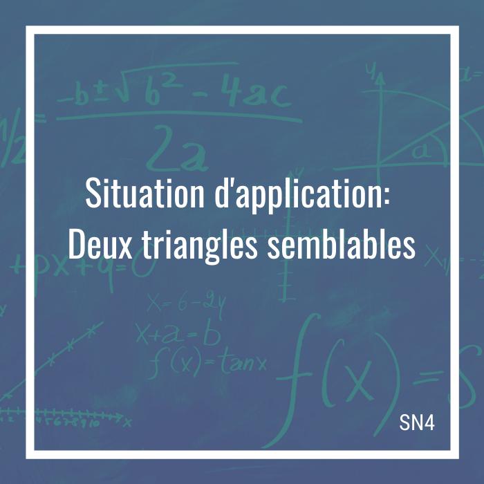 Situation d'application: Deux triangles semblables - 4e secondaire | Math à distance