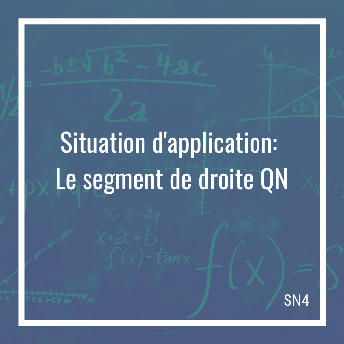 Situation d'application: Le segment de droite QN