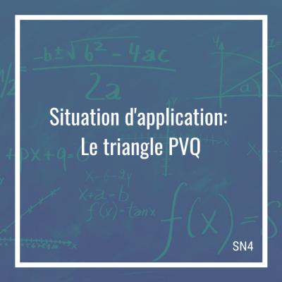 Situation d'application: Le triangle PVQ - 4e secondaire | Math à distance