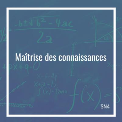 Maîtrise des connaissances: 40 questions - SN4   Math à distance