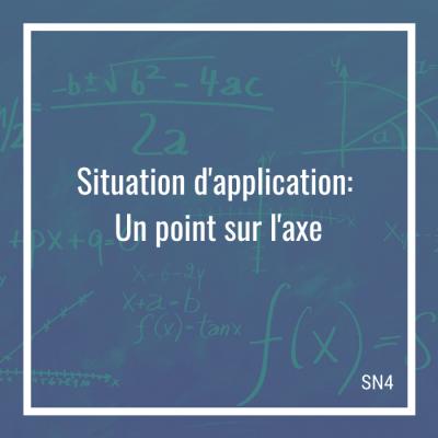 Situation d'application: Un point sur l'axe - 4e secondaire   Math à distance