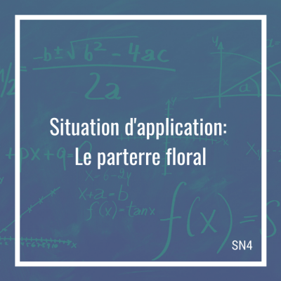 Situation d'application: Le parterre floral - 4e secondaire | Math à distance