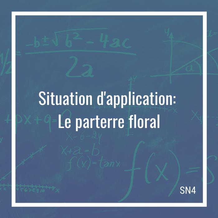 Situation d'application: Le parterre floral - 4e secondaire | Math à distance