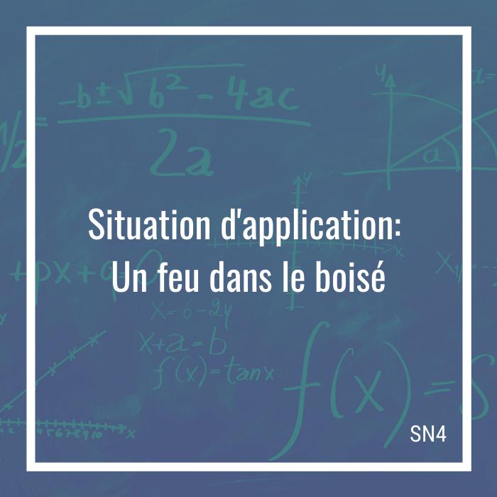 Situation d'application: Un feu dans le boisé - 4e secondaire | Math à distance